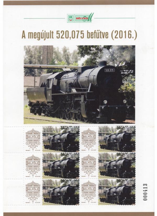A megújult 520,075 befűtve (2016.)